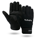 Waterproof & Winter Lined Black Touchscreen Mechanics Gloves (Size XL)