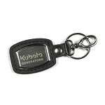 Brushed Plate Key Ring With Generator Tag Line
